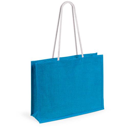 Пляжная сумка «Hint», джут, размер 44,5*35*14 см.,синий