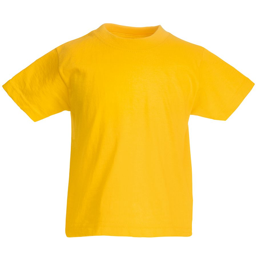 Футболка детская «Kids Original T», желтый, 7-8 лет, 100% х/б,  145 г/м2