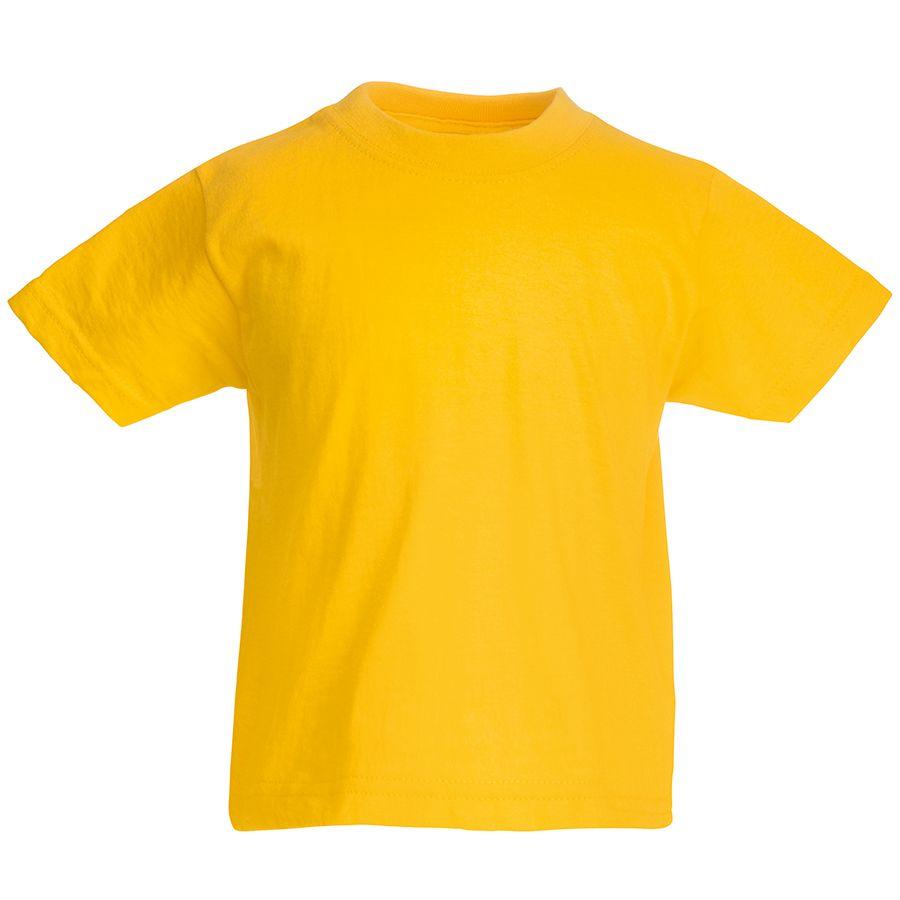 Футболка детская «Kids Original T», желтый, 12-13 лет, 100% х/б,  145 г/м2