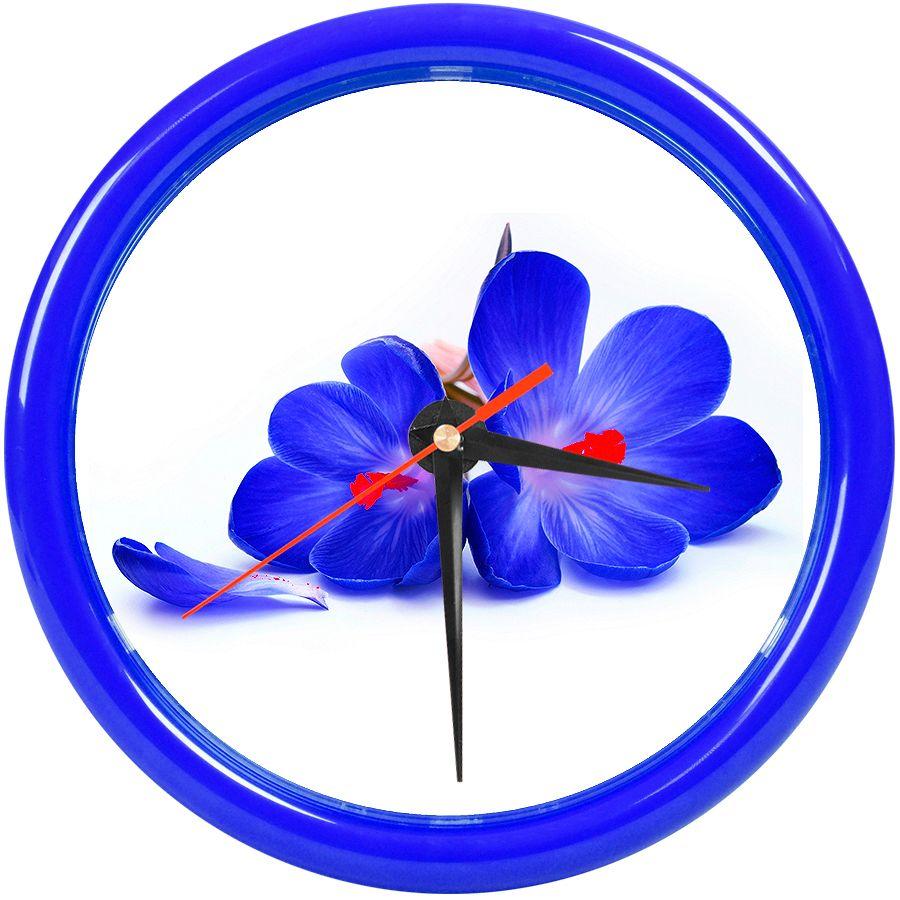 Фотография товара Часы настенные «PRINT» разборные ;  темно-cиний, D24,5 см; пластик