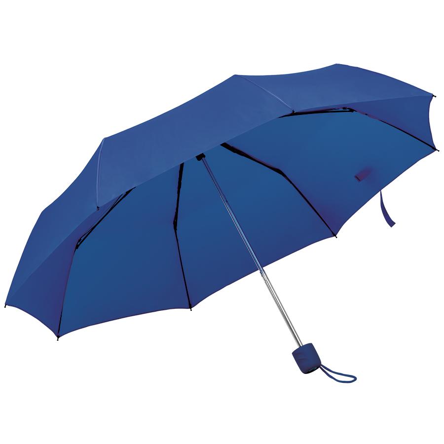 Зонт складной «Foldi», механический, темно-синий,