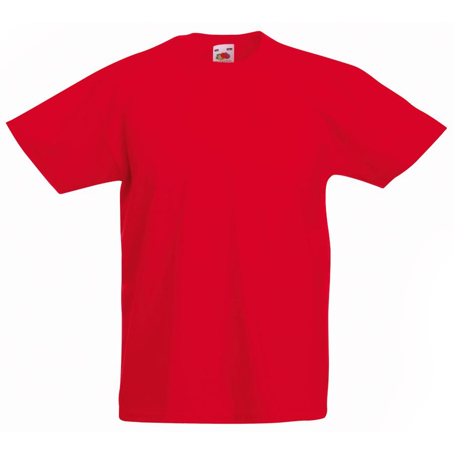 Футболка детская «Kids Original T», красный, 5-6 лет, 100% х/б,  145 г/м2