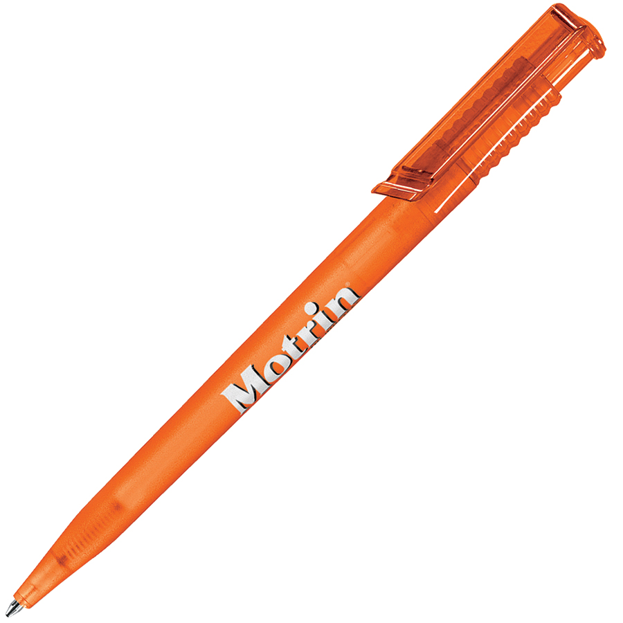 OCEAN FROST, ручка шариковая, фростированный оранжевый, пластик