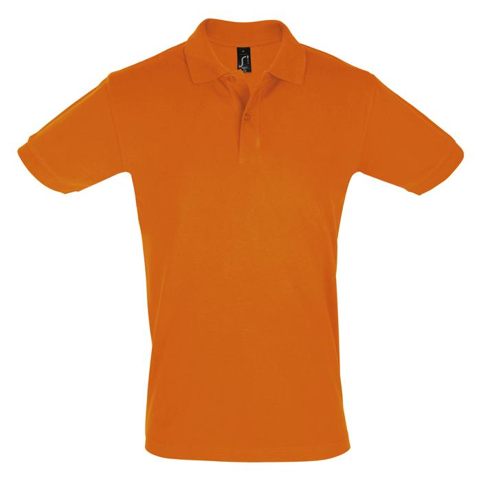 Поло «Perfect Men», оранжевый_M, 100% х/б, 180г/м2