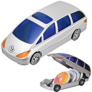 Фотография товара CD-холдер «Автомобиль» для 80 дисков; серебристый; 34,5х14,4х12,5 см; пластик; тампопечать
