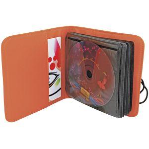 Фотография товара CD-холдер «UNION» для 24 дисков; оранжевый; 15,5х15х2 см; полиэстер; шелкография, лазерн. гравировка