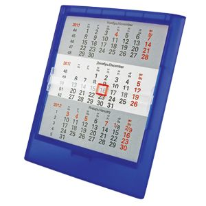 Фотография товара Календарь настольный на 2 года; прозрачно-синий; 12,5х16 см; пластик; тампопечать, шелкография