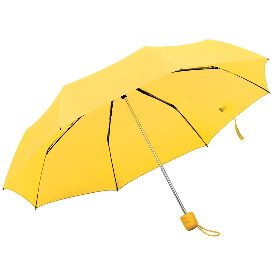 Зонт складной «Foldi», механический, желтый