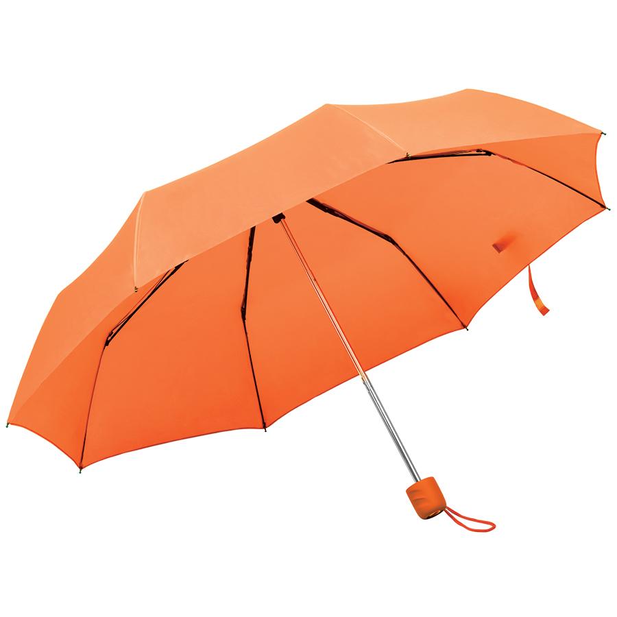 Зонт складной «Foldi», механический, оранжевый