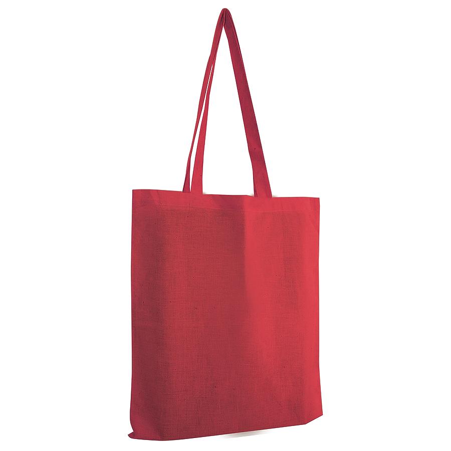 Сумка для покупок из хлопка «Eco»; красный; 38х42 см; 100% хлопок; шелкография
