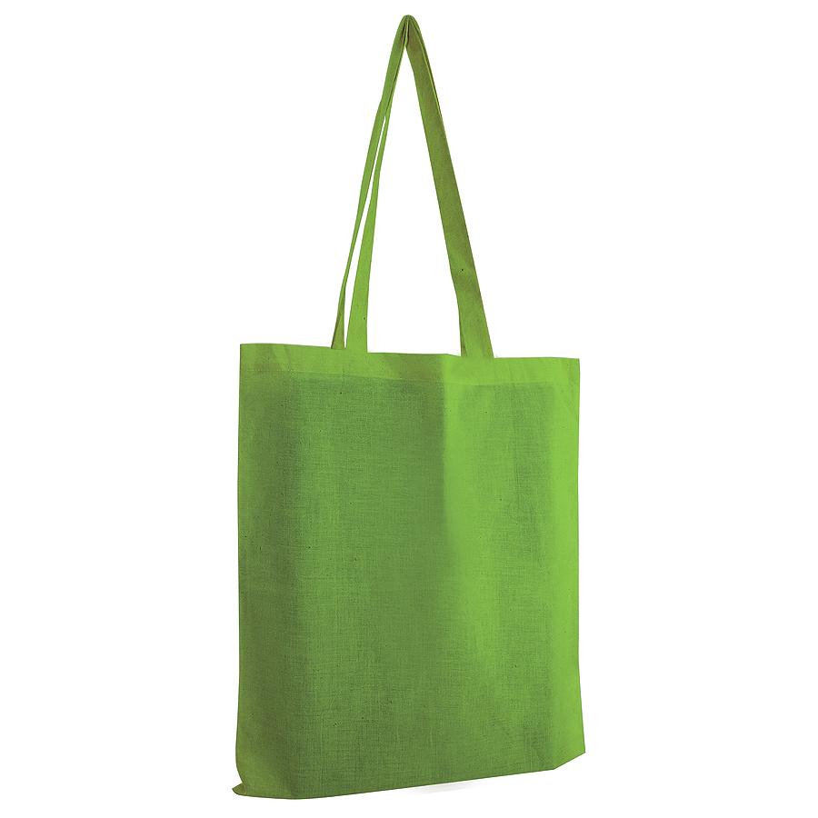 Сумка для покупок из хлопка «Eco»; зеленый; 38х42 см; 100% хлопок; шелкография