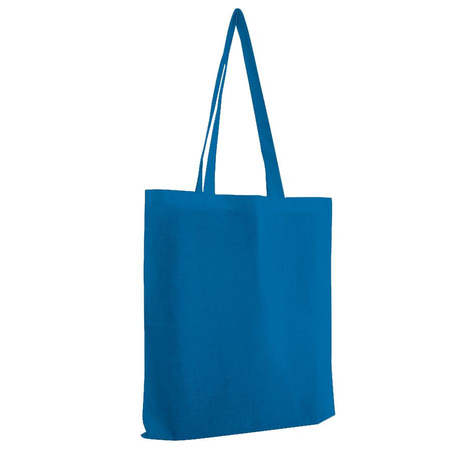 Сумка для покупок из хлопка «Eco»; синий; 38х42 см; 100% хлопок; шелкография