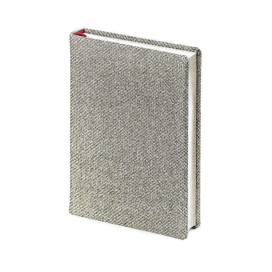Ежедневник полудатированный Las Vegas,  А6+, серый, серебрянный обрез, два ляссе