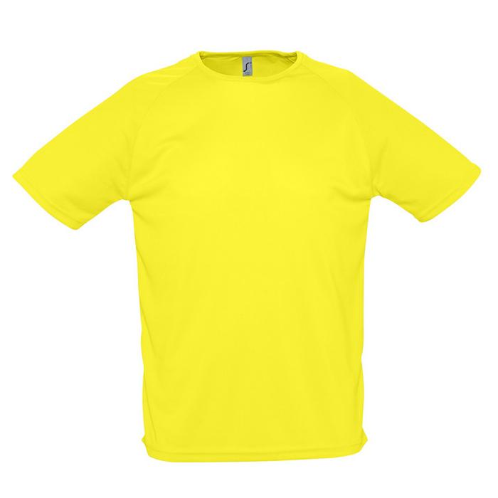 """Фотография товара Футболка """"Sporty"""", лимонный_S, 100% воздухопроницаемый полиэстер, 140 г/м2"""
