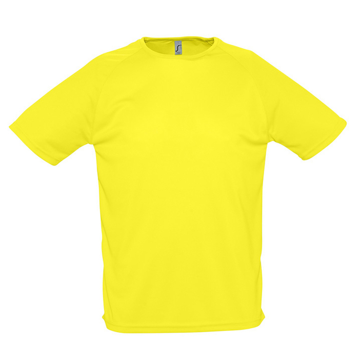 Фотография товара Футболка «Sporty», лимонный_2XL, 100% воздухопроницаемый полиэстер, 140 г/м2