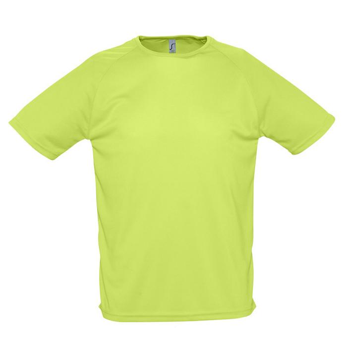 """Фотография товара Футболка """"Sporty"""", светло-зеленый_XL, 100% воздухопроницаемый полиэстер, 140 г/м2"""