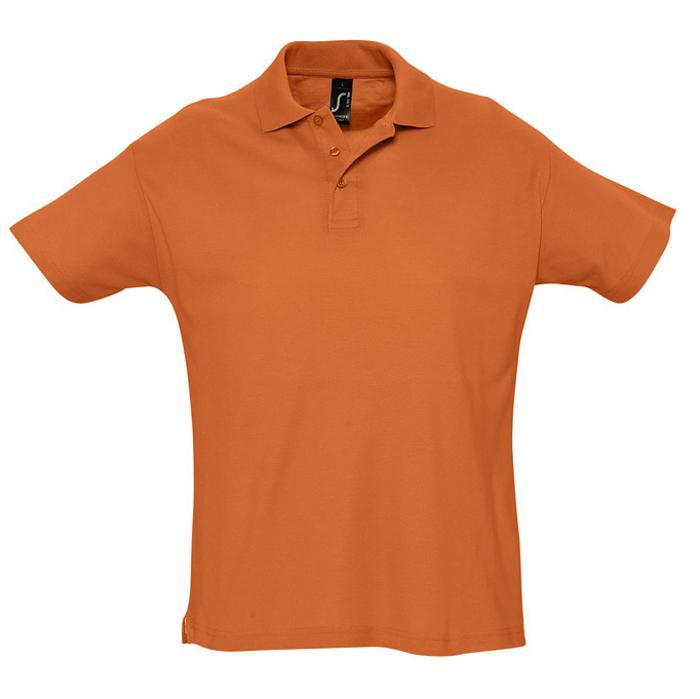 Фотография товара Поло «Summer» оранжевый_L, 100% х/б, 170г/м2