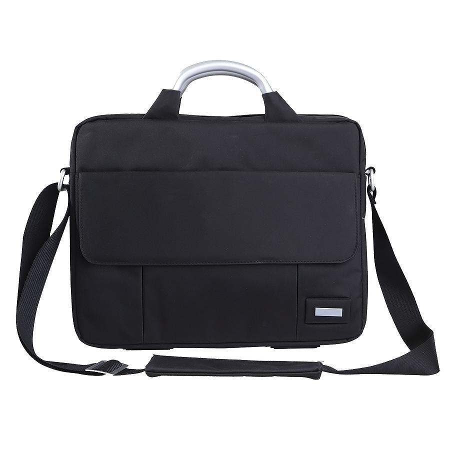 Конференц-сумка «BUSINESS TRIP» c шильдом; черный; 36х28х5 см; микрофибра