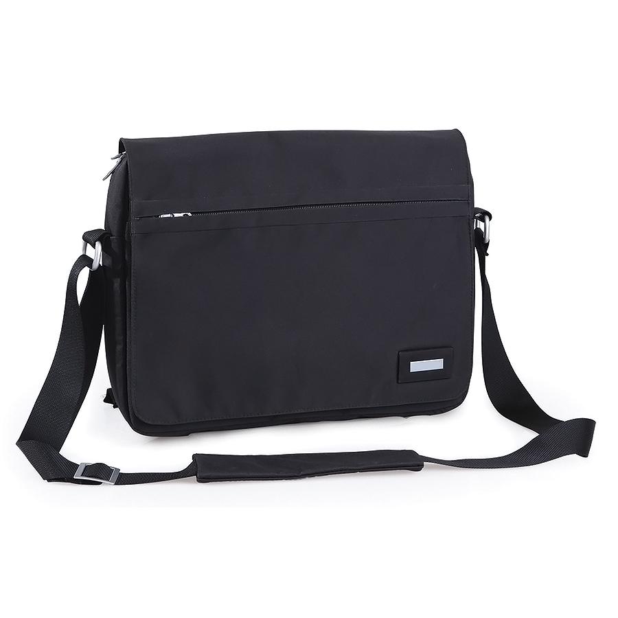 Конференц-сумка «BUSINESS» c шильдом; черный; 39×8×28 cm; микрофибра