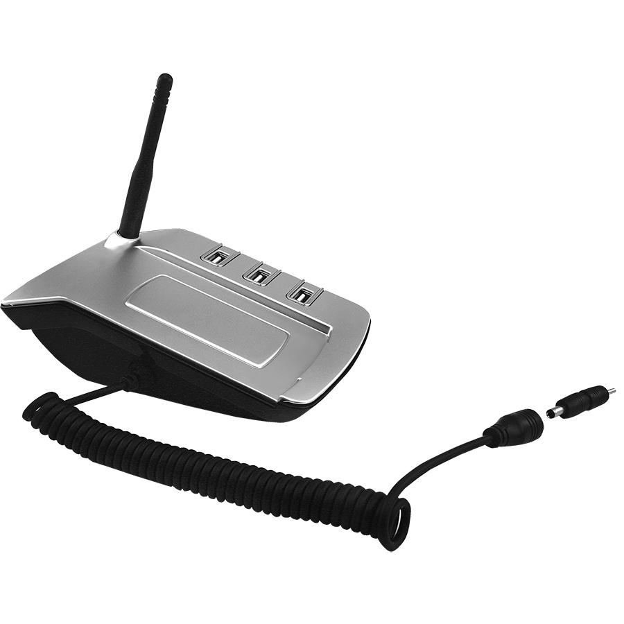 USB-разветвитель с переходниками для зарядки телефона и шариковой ручкой; 13х8,5х4 см; пла