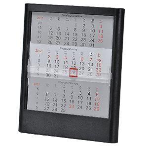 Календарь настольный на 2 года; черный; 12,5х16 см; пластик; тампопечать, шелкография