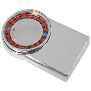 Игра «Рулетка»; 10,3х6,4х1,9 см; посеребренный металл; лазерная гравировка