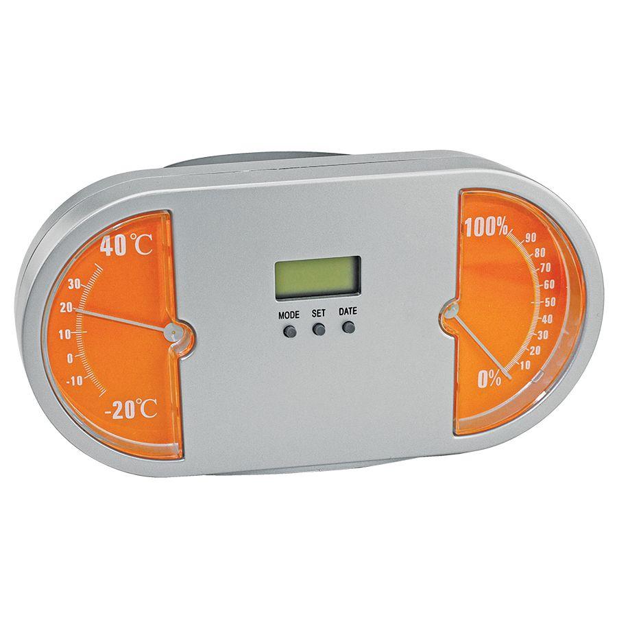 Подставка для авторучек с часами «Панель приборов»; оранжевый;