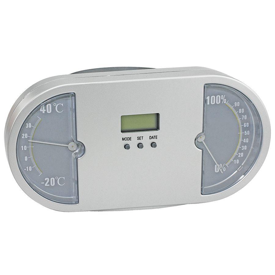 Подставка для авторучек с часами «Панель приборов»; серый; 18х9
