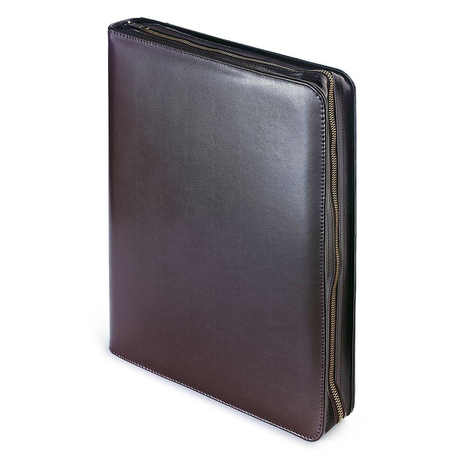 Папка с кольцевым зажимом на молнии Bosforo, коричневый, 260х350 мм