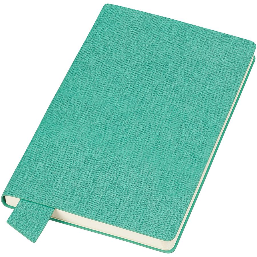 Бизнес-блокнот А5  «Provence», зеленый , мягкая обложка, в клетку