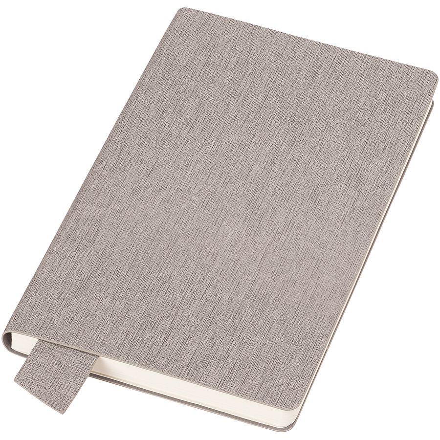 Фотография товара Бизнес-блокнот А5  «Provence», светло-серый , мягкая обложка, в клетку
