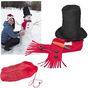 Набор для лепки снеговика  в сумке «Веселый снеговик», флис, пластик,  шелкография