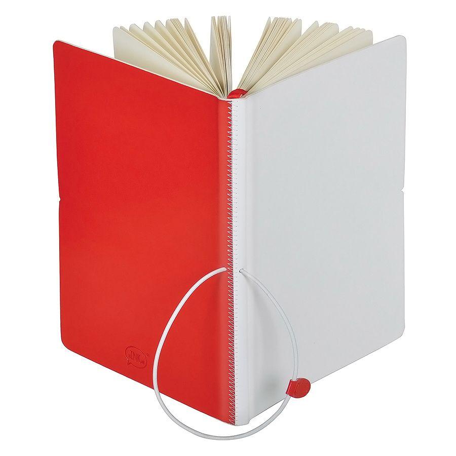 Бизнес-блокнот А5  «Franky» , красный/белый, в линейку