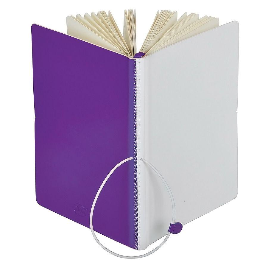 Бизнес-блокнот А5  «Franky» , фиолетовый/белый,  в линейку
