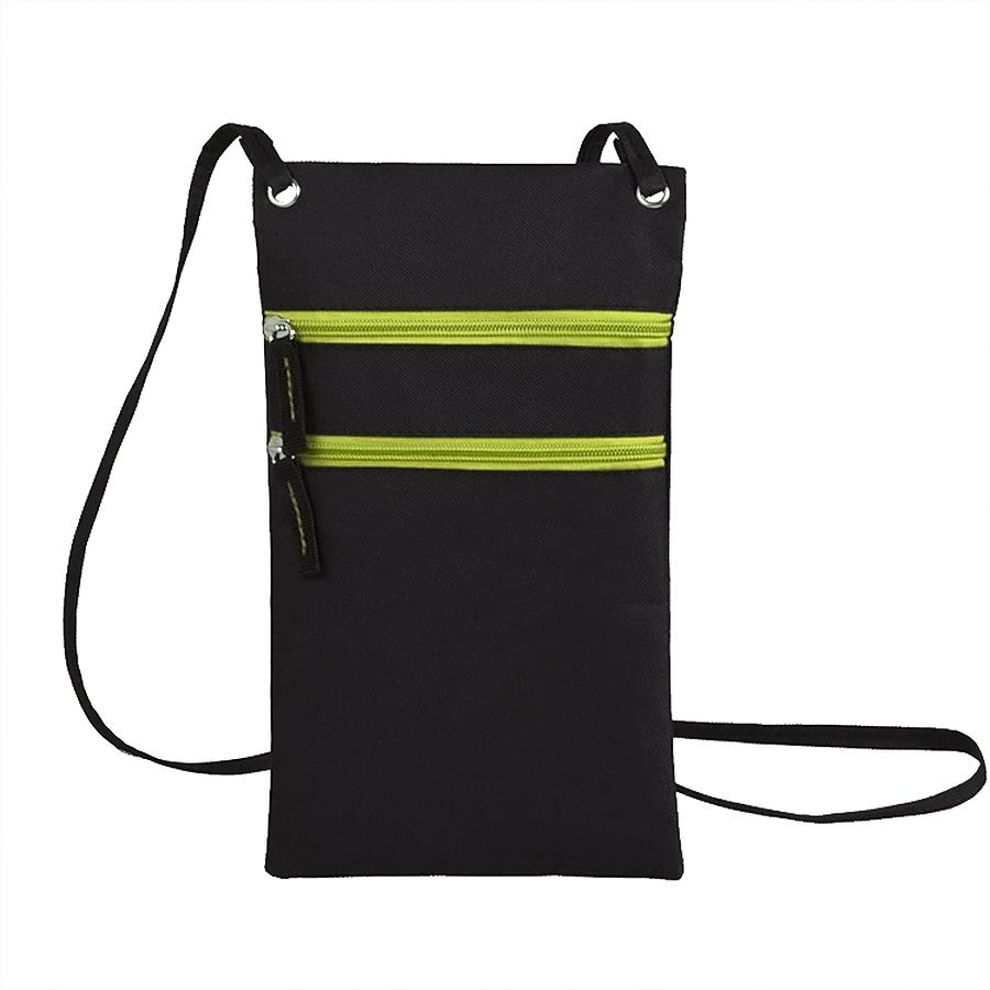 Фотография товара Сумка для дорожных документов «ACTIVE» с длинным  ремешком , зеленый, 17х30см, полиэстер,  шелк
