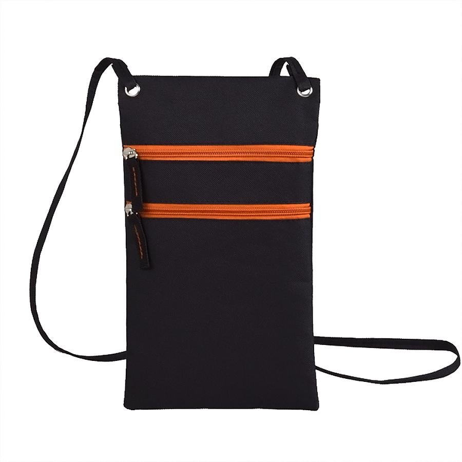 Фотография товара Сумка для дорожных  документов «ACTIVE» с длинным ремешком,  оранжевый, 17х30см, полиэстер,  шелк.