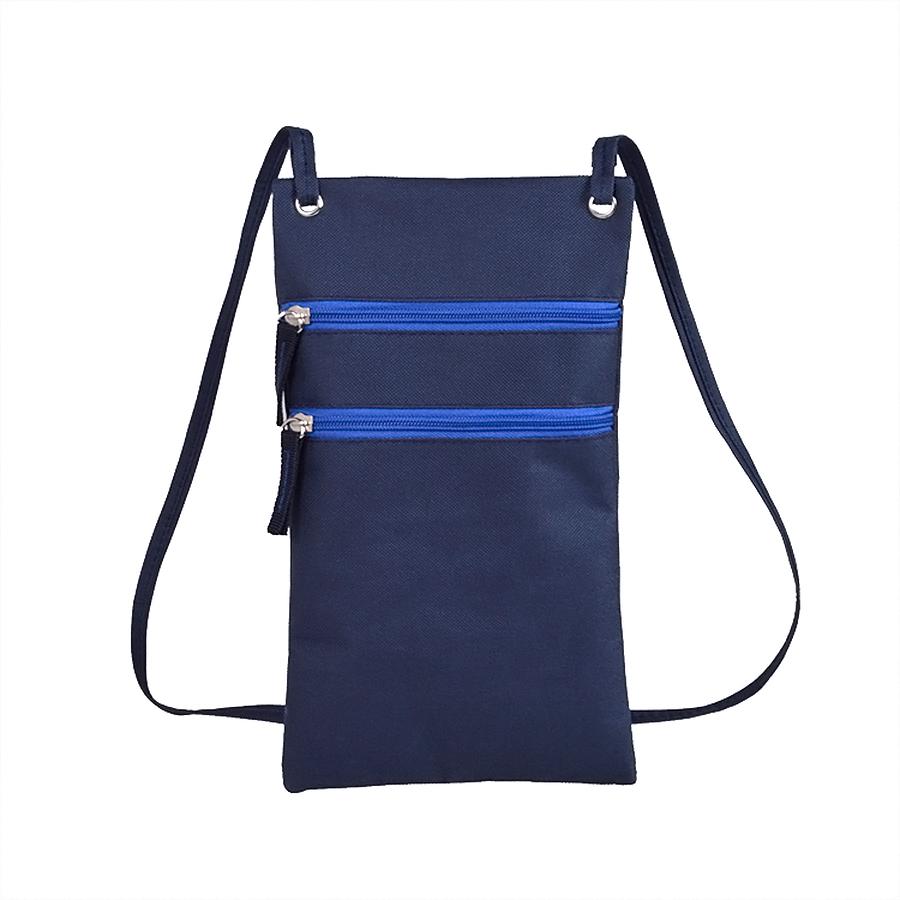 Фотография товара Сумка для дорожных  документов «ACTIVE» с длинным ремешком , синий, 17х30см, полиестер,  шелкография