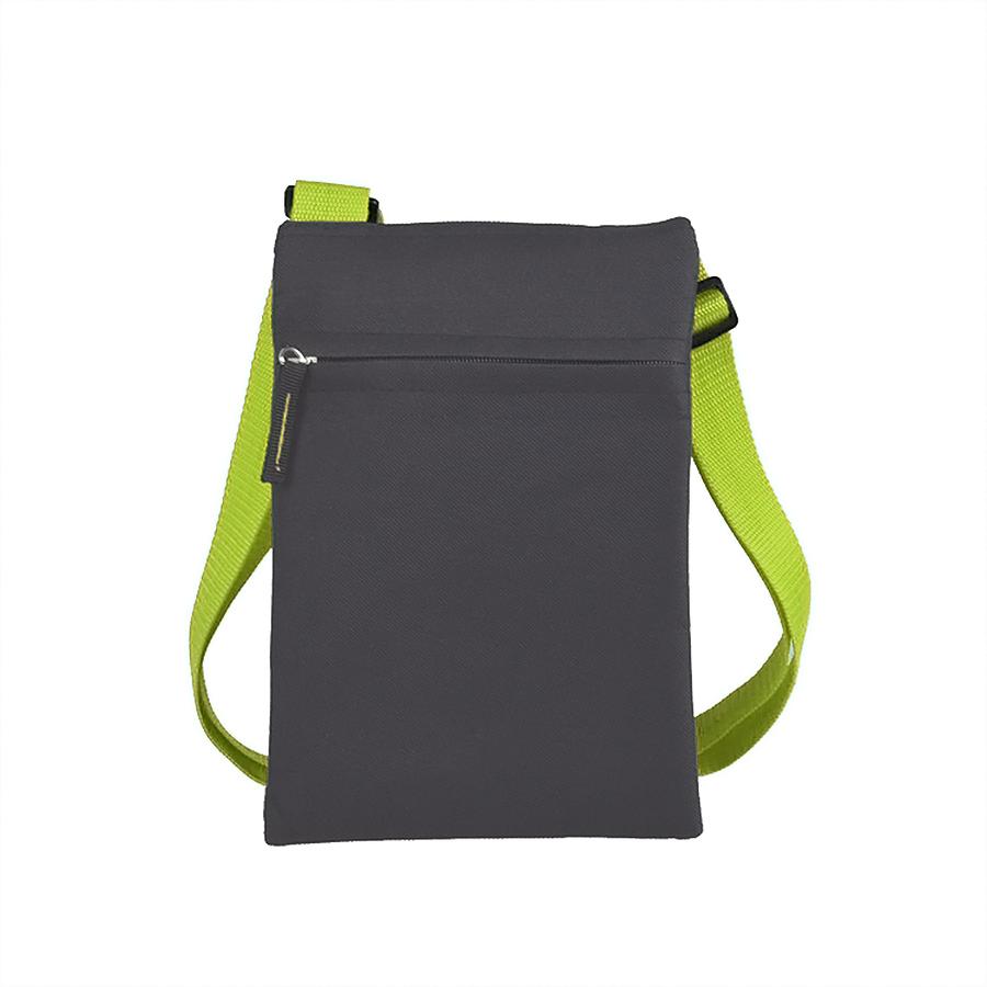 Сумка для документов «ACTIVE» с карманом на молнии,  зеленый, 18х24 см, полиестер,  шелкография