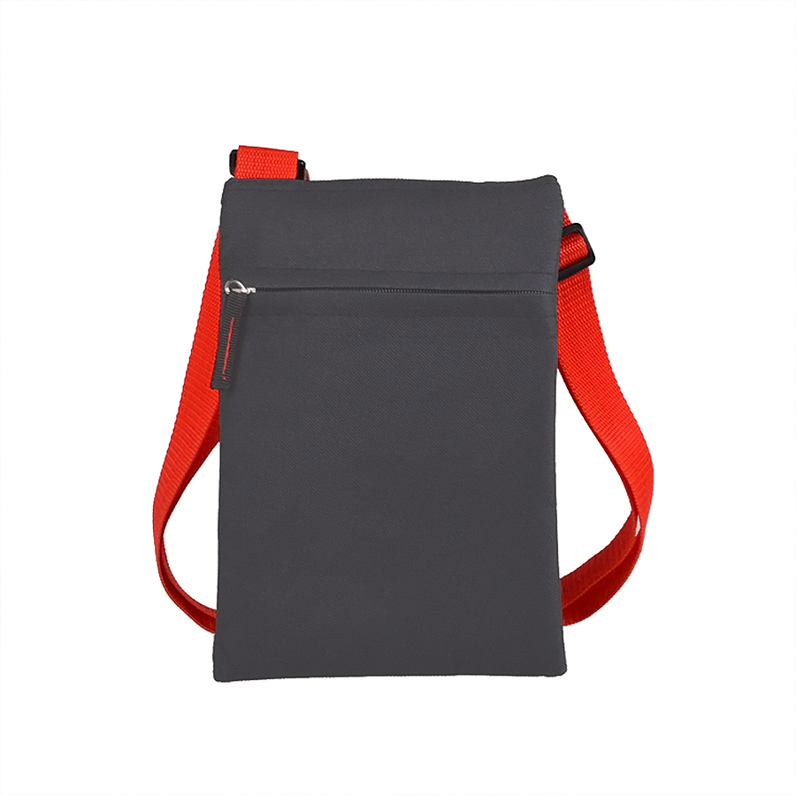 Сумка для документов «ACTIVE» с карманом на молнии,  красный, 18х24 см, полиестер,  шелкография