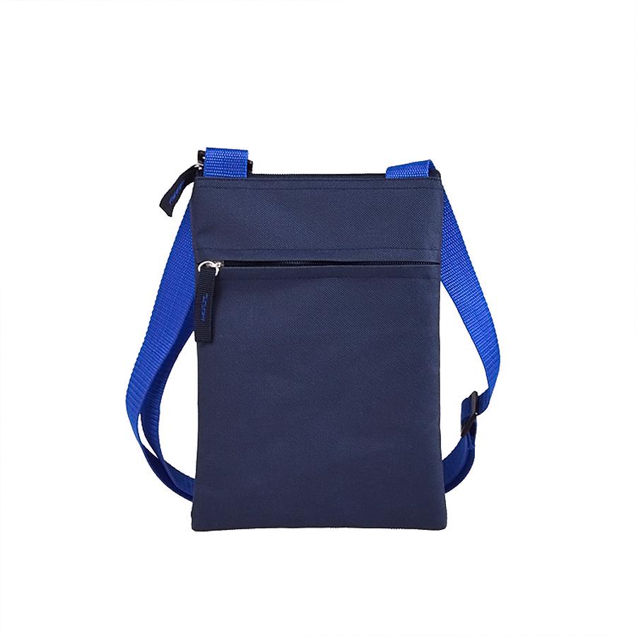 Сумка для документов «ACTIVE» с карманом на молнии,  синий, 18х24 см, полиестер,  шелкография