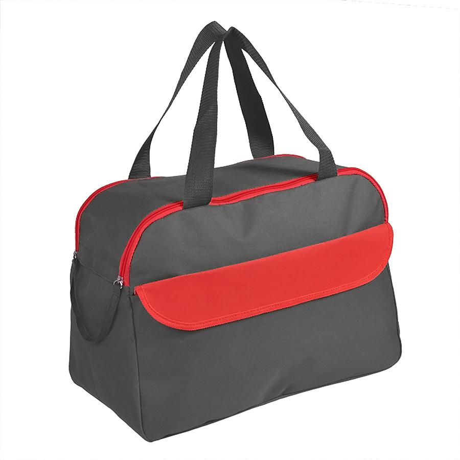 Сумка дорожная/спортивная «ACTIVE» с 2 карманами,  красный, 45х31х22 см, полиестер,  шелкография