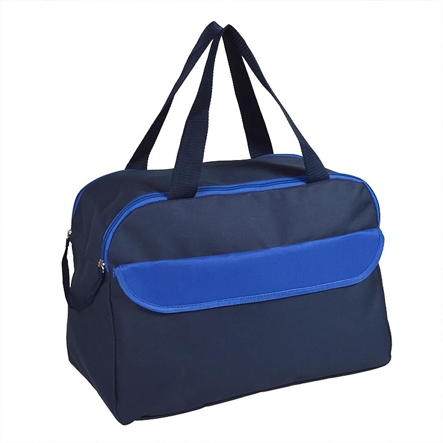 Сумка дорожная/спортивная «ACTIVE» с 2 карманами,  синий, 45х31х22 см, полиестер,  шелкография