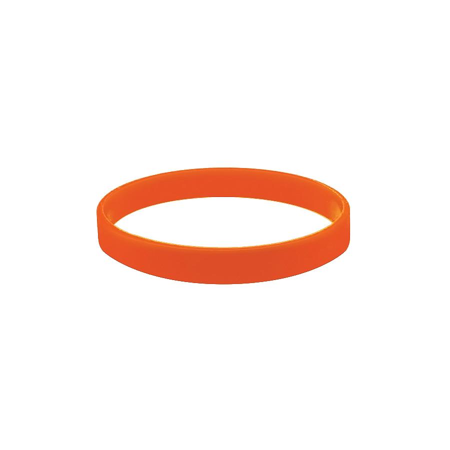 Браслет силиконовый «Фантазия»;  D7 см, оранжевый