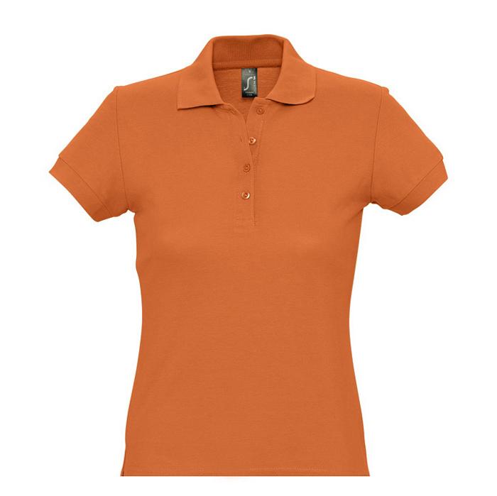 Фотография товара Поло «Passion», оранжевый_S, 100% х/б, 170г/м2