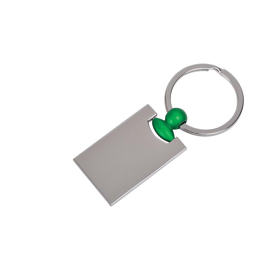 Фотография товара Брелок «Техно» с зеленым элементом, 2,2х4,2х0,3см, металл