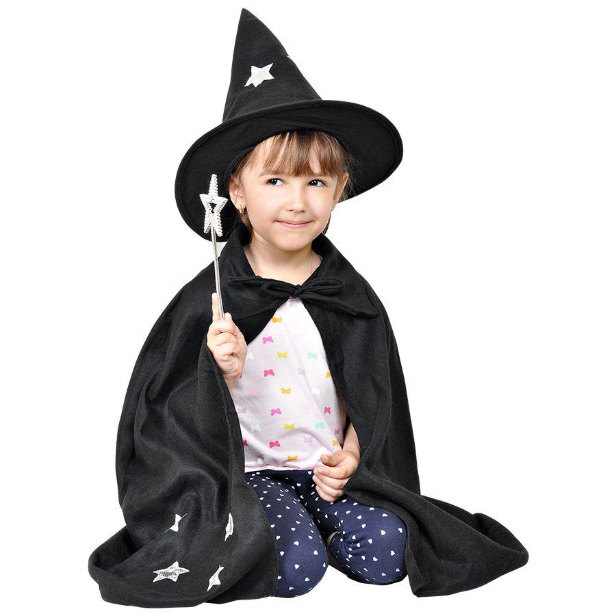 Костюм карнавальный «Волшебник», в мешке,  черный, флис,  мешок 25*30 см,  вышивка
