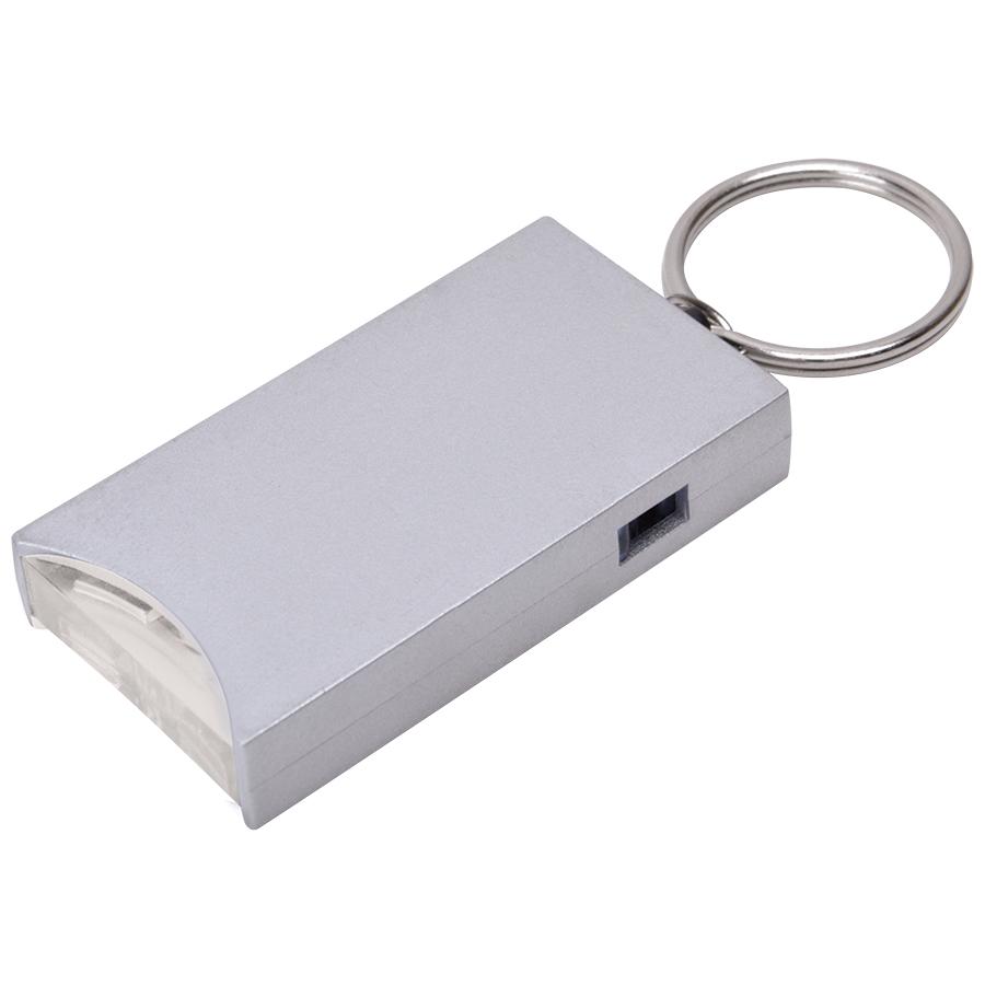 Брелок «And» с подсветкой; серебристый, 2,8х5,2х0,9 см, пластик