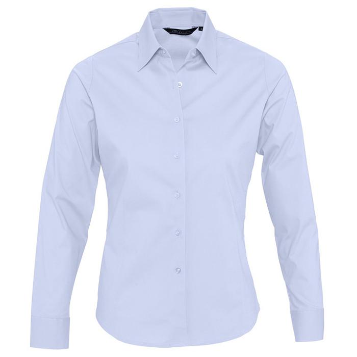 "Рубашка ""Eden"", небесно-голубой_M, 97% хлопок, 3% эластан, 140г/м2"