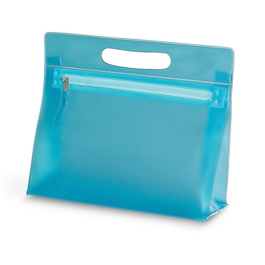 "Косметичка  ""AQUARIUM"",  ПВХ, 24x22x7,5 см, голубой"