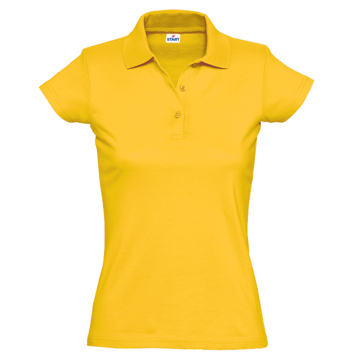"Поло ""Miss Style"" джерси, 100% хлопок, 170 г/м2, желтый_XL"